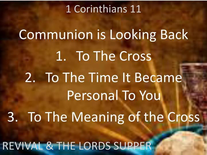 1 Corinthians 11