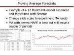 moving average forecasts1