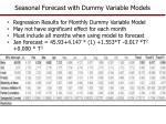 seasonal forecast with dummy variable models1