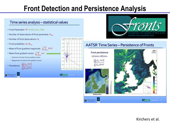 Front Detection and Persistence Analysis