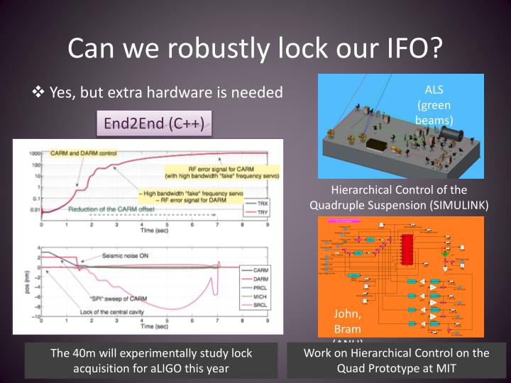 Can we robustly lock our IFO?