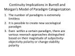 continuity implications in burrell and morgan s model of paradigm categorization