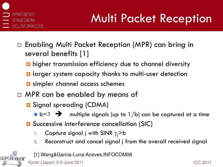 Multi packet reception