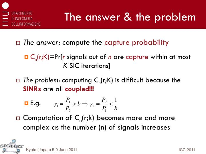 The answer & the problem