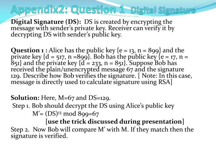 Appendix2: Question 1
