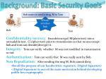 background basic security goals