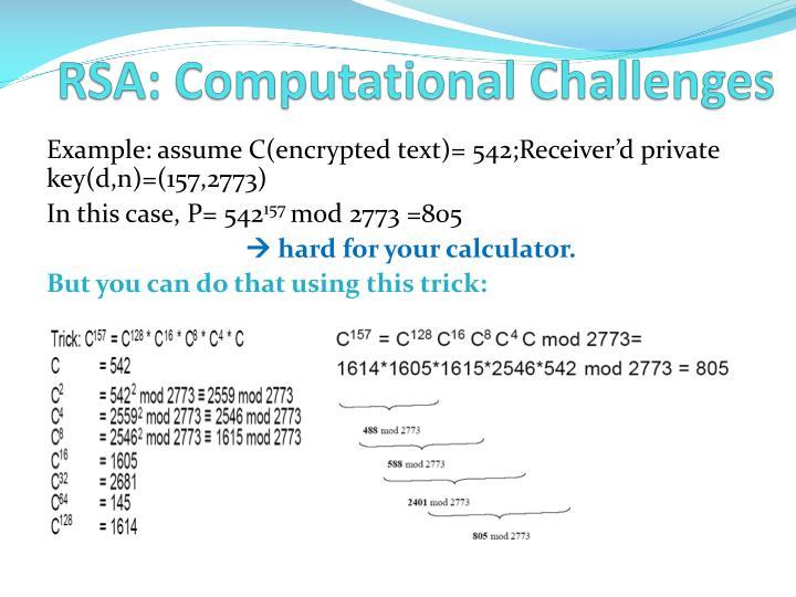 RSA: Computational Challenges