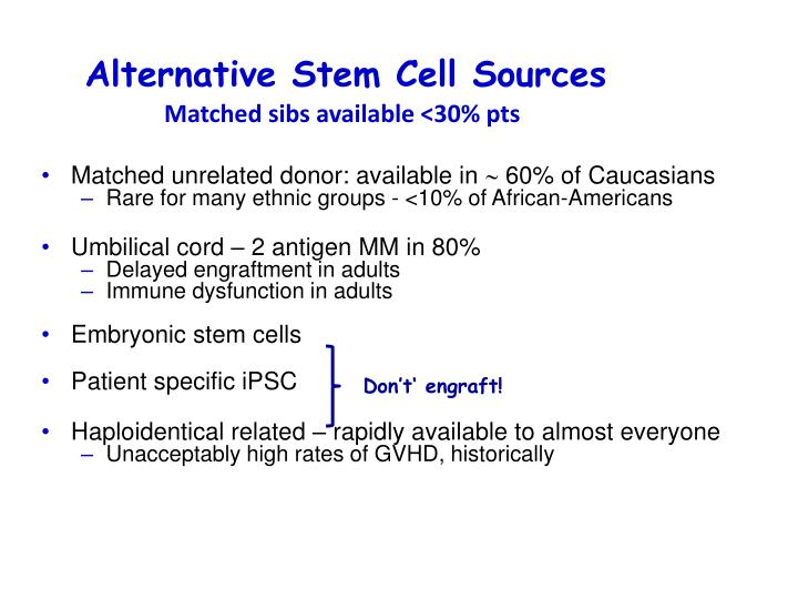 Alternative Stem Cell Sources