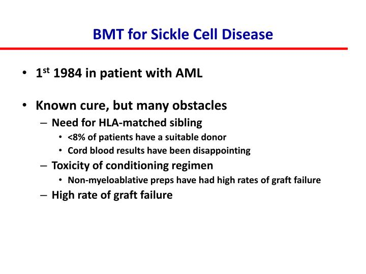 BMT for Sickle Cell Disease