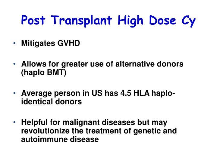 Post Transplant High Dose Cy