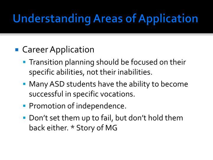 Understanding Areas of Application