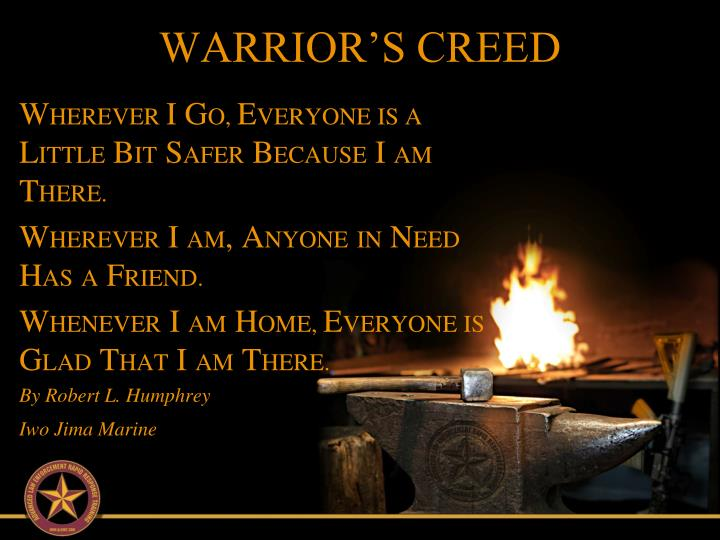 WARRIOR'S CREED