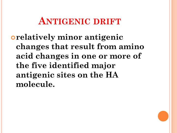 Antigenic drift