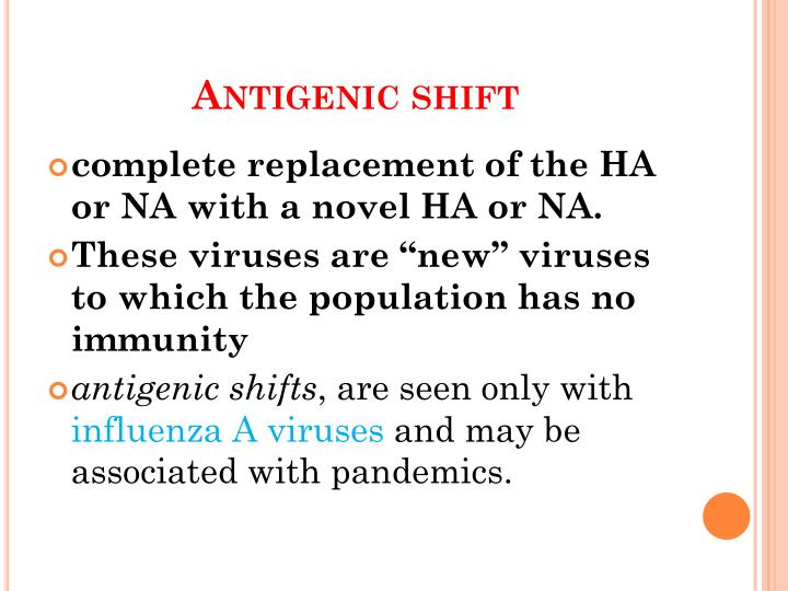 Antigenic shift