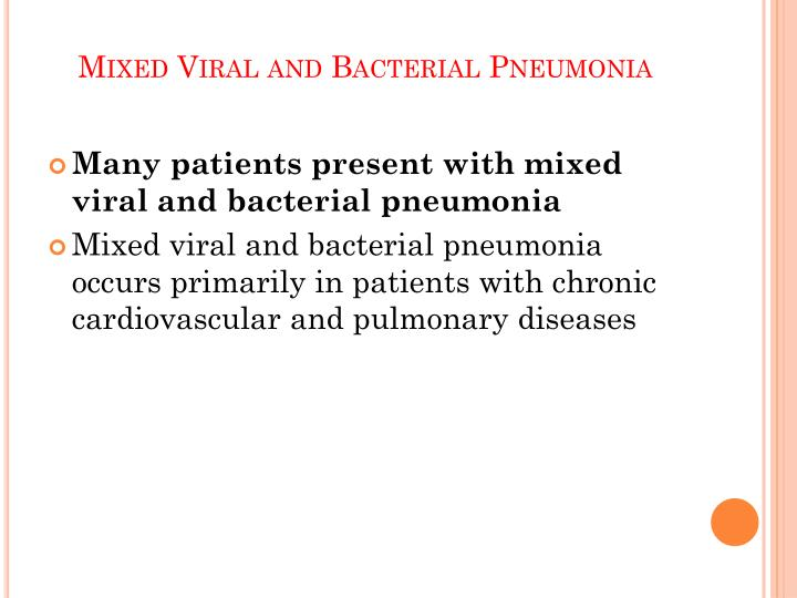 Mixed Viral and Bacterial Pneumonia