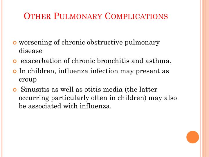 Other Pulmonary Complications