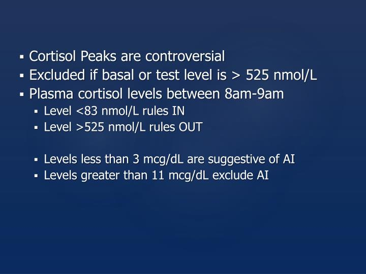 Cortisol Peaks are controversial