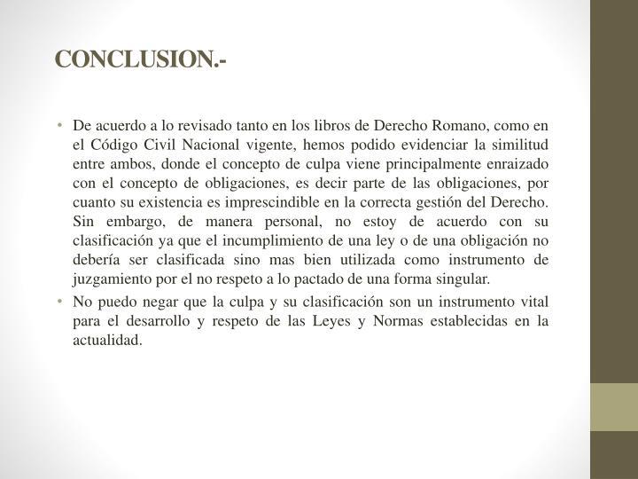 CONCLUSION.-