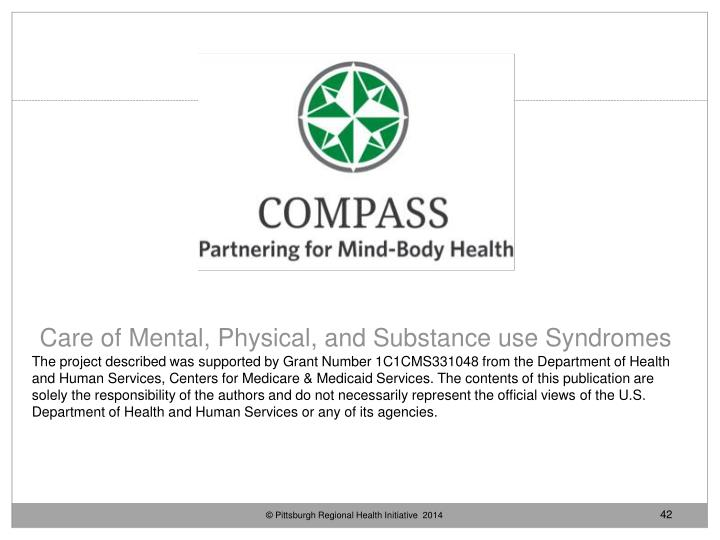 Care of Mental, Physical, and Substance use Syndromes
