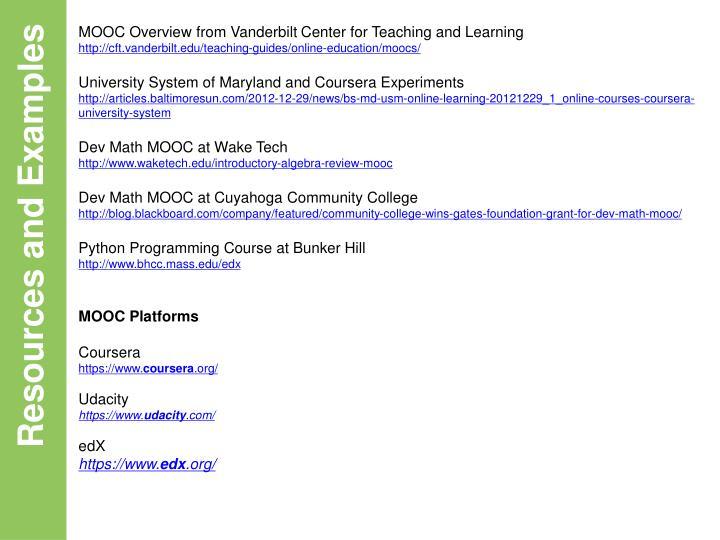 MOOC Overview from Vanderbilt