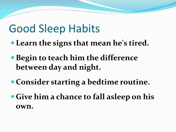 Good Sleep Habits