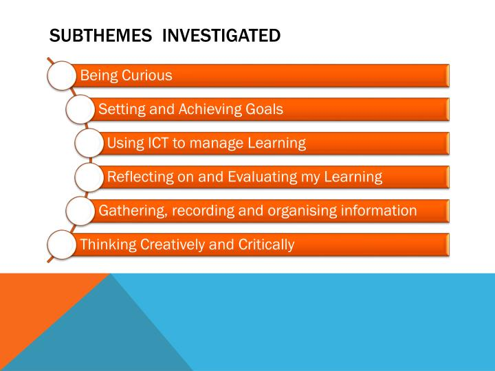 subthemes  Investigated