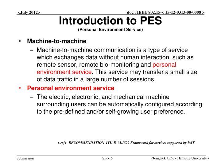 Introduction to PES