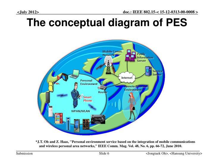 The conceptual diagram of PES