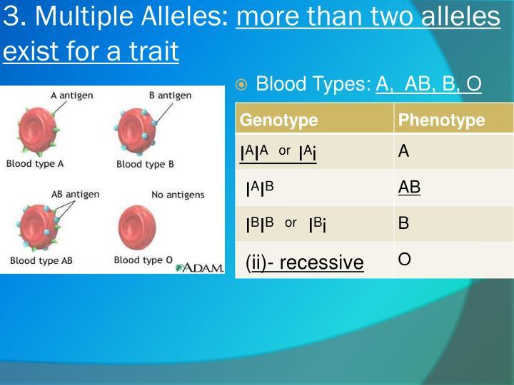 3. Multiple Alleles: