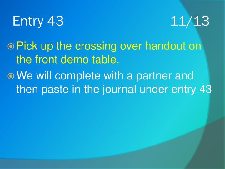 Entry 4311/13