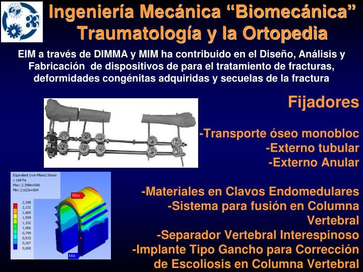 """Ingeniería Mecánica """"Biomecánica"""""""