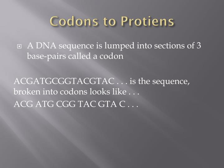 Codons to