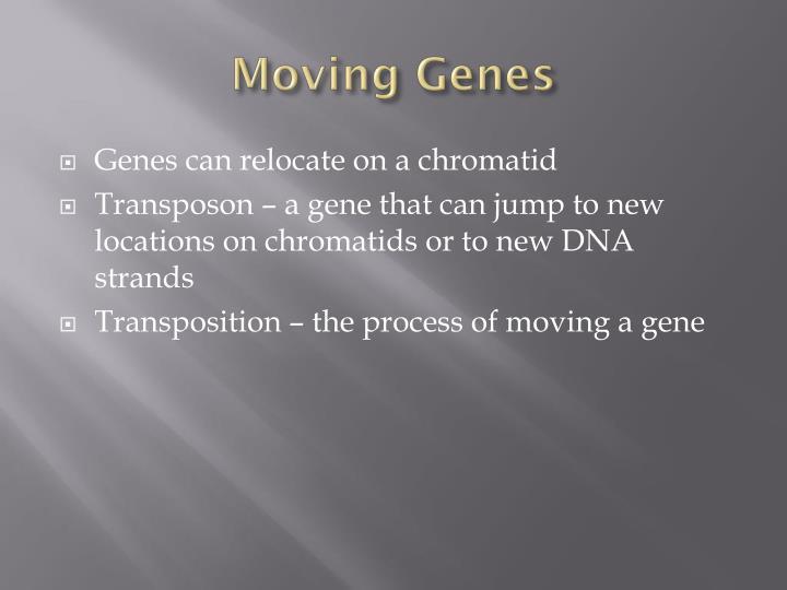 Moving Genes