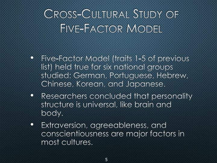 Cross-Cultural Study of