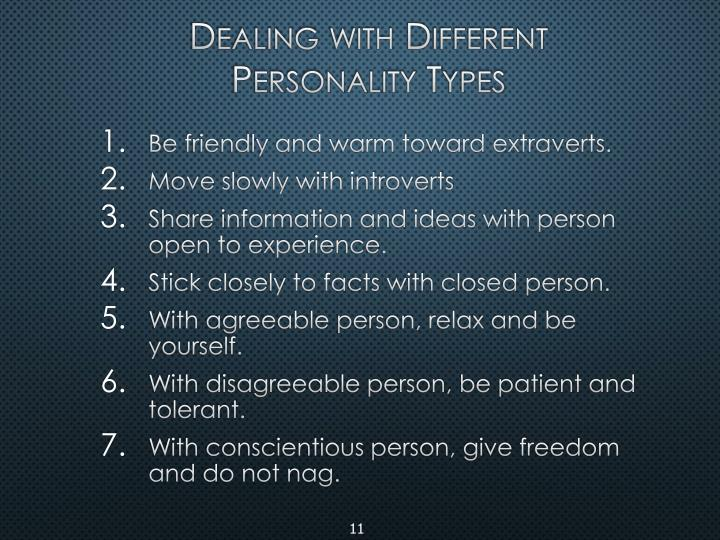 Dealing with Different