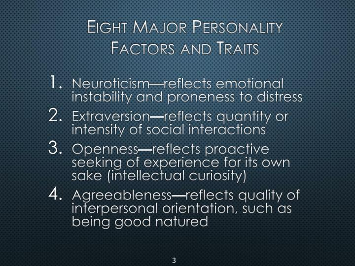 Eight Major Personality