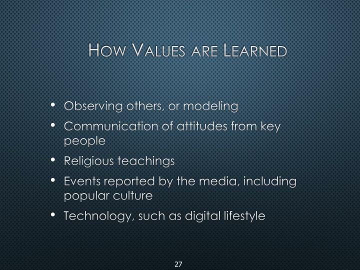 How Values are Learned