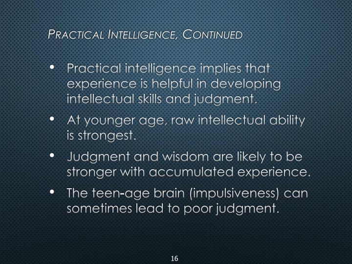 Practical Intelligence,