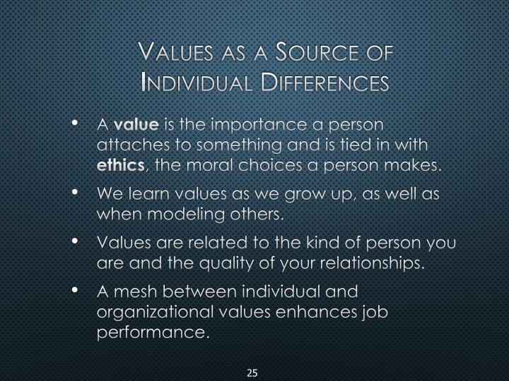 Values as a Source of