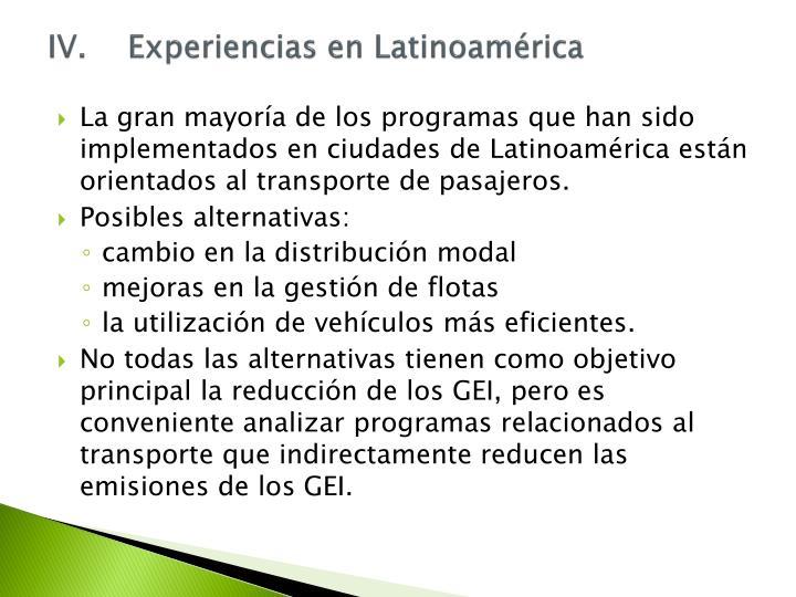 IV.Experiencias