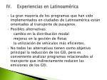 iv experiencias en latinoam rica