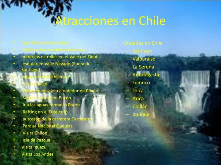 Atracciones en Chile