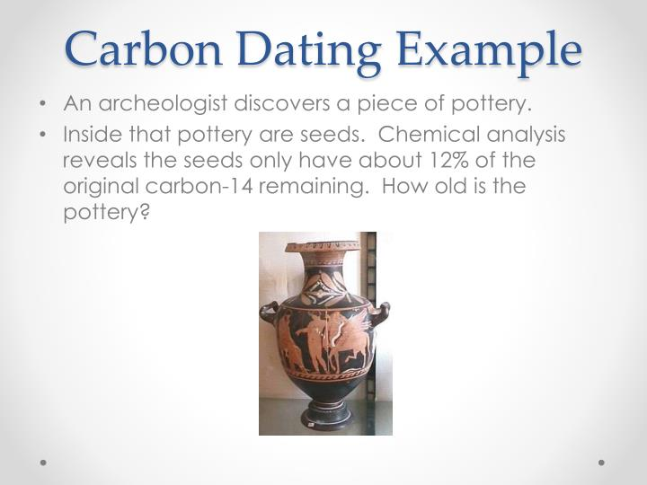 Carbon Dating Example
