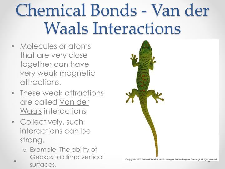 Chemical Bonds - Van