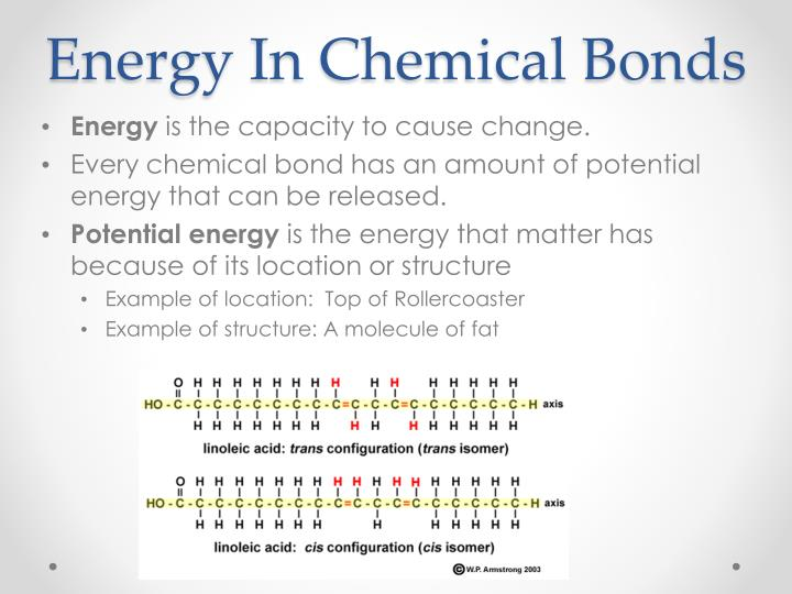 Energy In Chemical Bonds