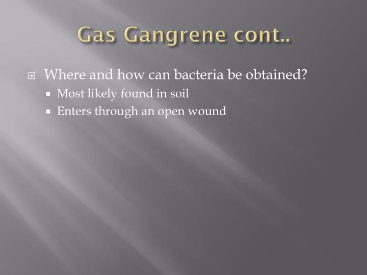 Gas Gangrene cont..