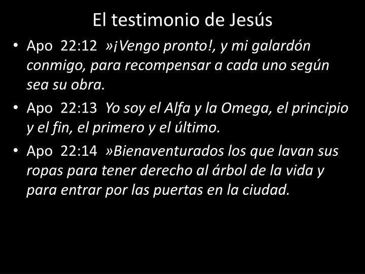 El testimonio de Jesús