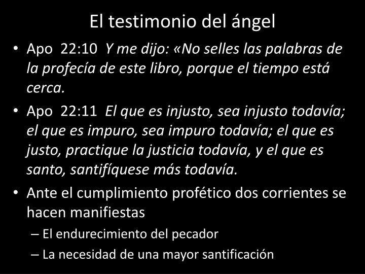 El testimonio del ángel