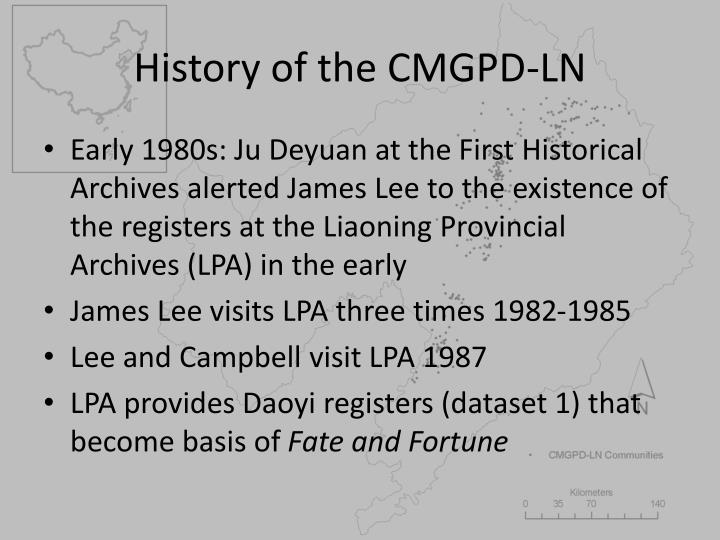 History of the CMGPD-LN
