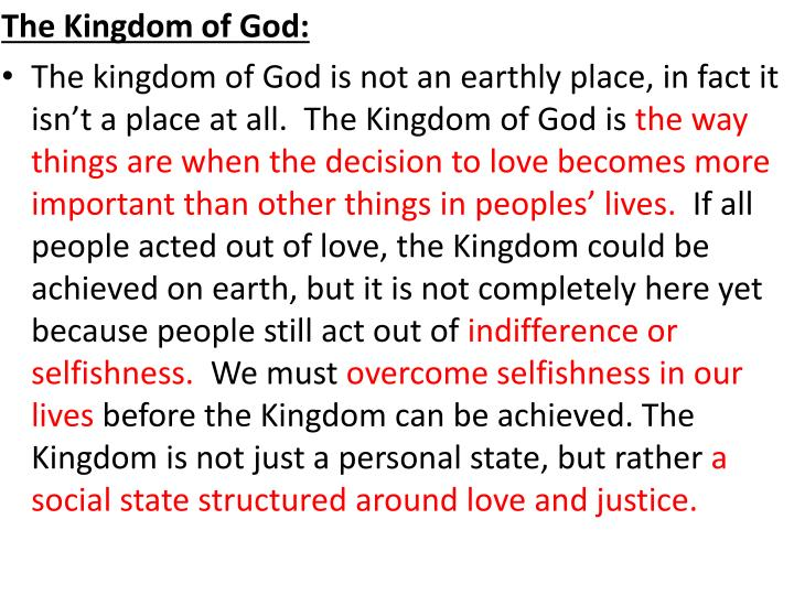 The Kingdom of God: